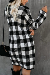 Autumn Plaid Long Sleeve Dress - Pavacat