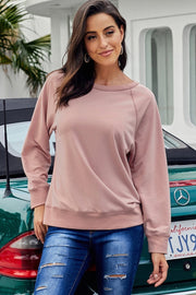 Basic Loose Round Neck Sweatshirt - Pavacat