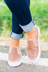 Big Size Hollowed Out Slip On Flat Canvas Shoes Fashion - Pavacat