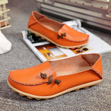 Big Size Soft Multi-way Wearing Pure Color Flat Loafers - Pavacat