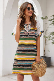 Bohemian Striped Lace Dress - Pavacat