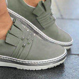 Casual Artificial Pearl Decoration Solid Color Sneakers - Pavacat
