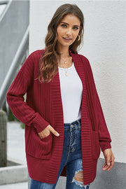Casual Plain Double Pockets Cardigan - Pavacat