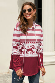 Christmas Chic Print Pullover - Pavacat