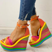Colorful Leisure Wedges Sandals - Pavacat
