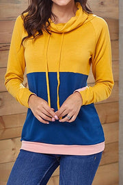 Contrast Stitching Long Sleeve Sweater - Pavacat