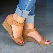 Daily Low Heel Wedge Sandals - Pavacat