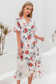 Detailed Dreams Floral Dress - Pavacat