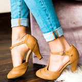 Fashion Summer Buckle Stiletto Heel Sandals - Pavacat