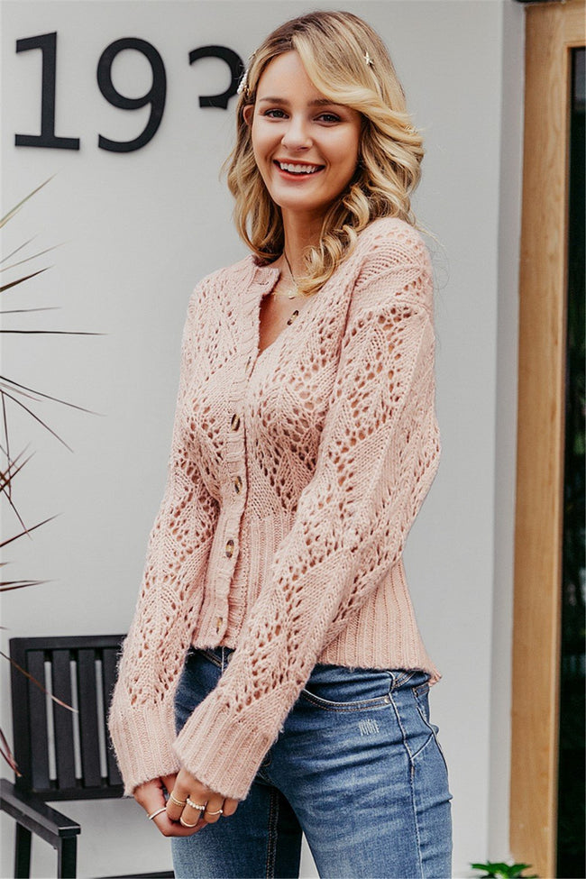 Feeling Brand New Hollow Out Cardigan - Pavacat