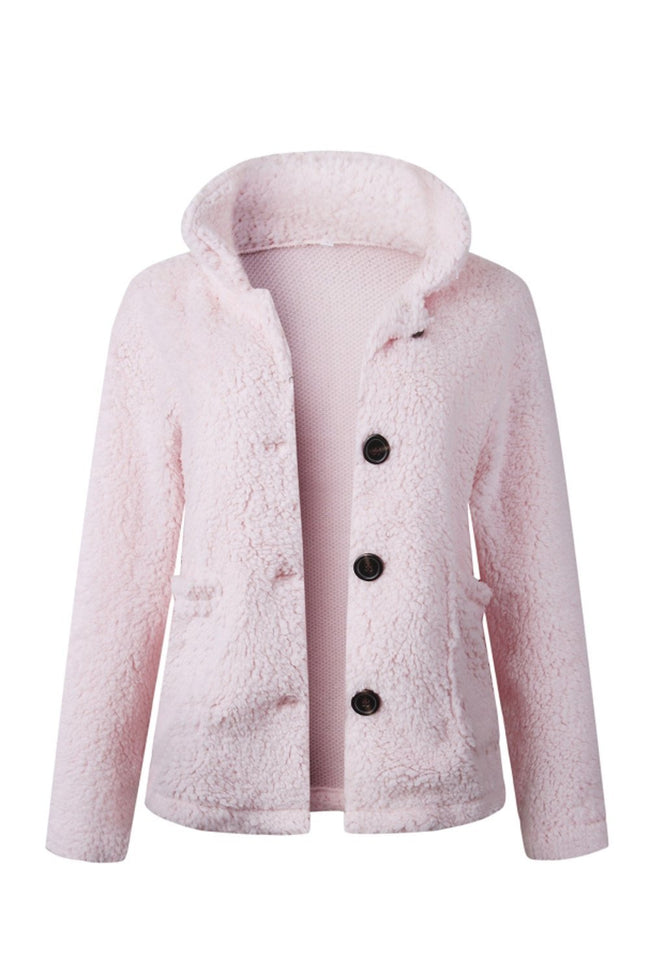 Furry Single Breasted Slim Coat - Pavacat