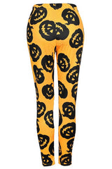 Halloween Pumpkin Lamp Printed Leggings - Pavacat