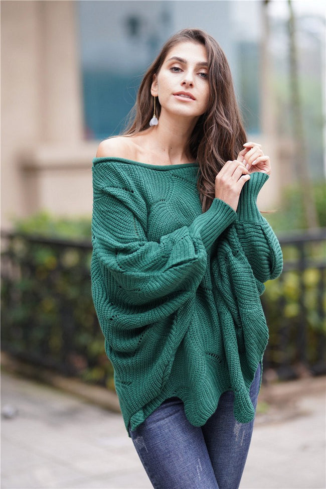 It All Works Out Knit Sweater - Green - Pavacat