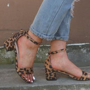 Large Size Chunky Heel Sandals - Pavacat