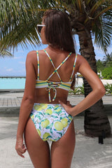 Lemon Stripe Bikini Set - Pavacat