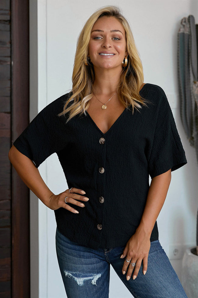 Tulle Single Breasted Blouse