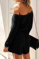 Plain Long Sleeve Loose Romper - Pavacat