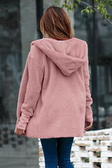 Pure Color Hooded Pockets Cardigan - Pavacat