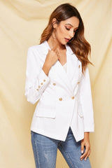 Pure Color Single Button Blazer - Pavacat