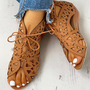 Shoelaces Gladiator Leisure Boot Sandals - Pavacat