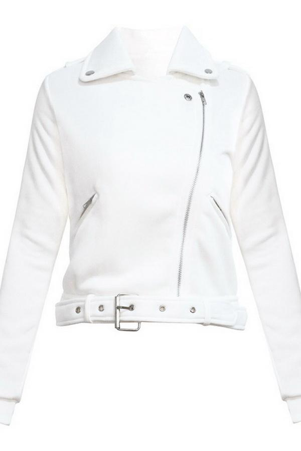 Short Casual Zip Lapels Jacket - Pavacat