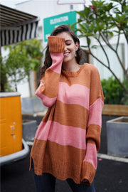 Simple Round Neck Long-sleeve Sweater - Pavacat