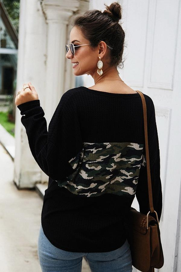 Single Breasted Front Knot Sweater - Pavacat