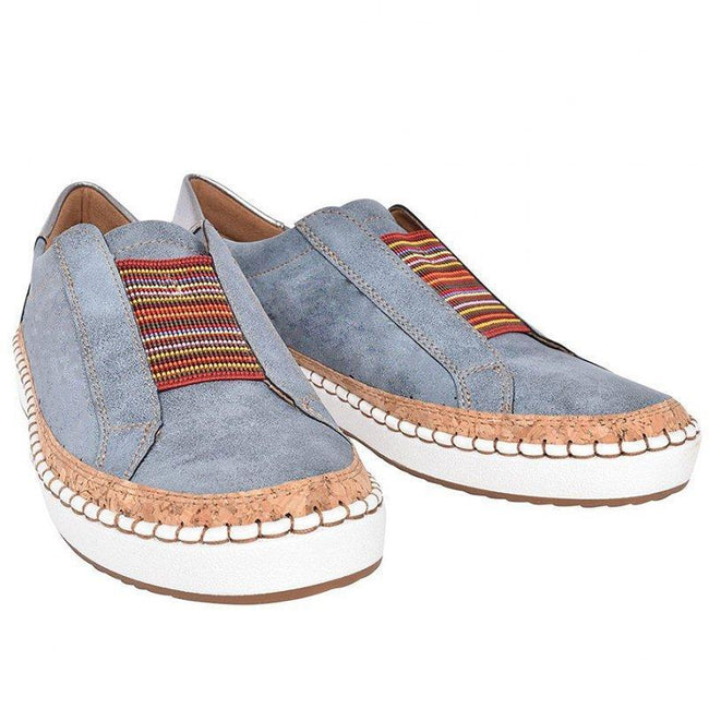 Slide Elastic Band Round Toe Casual Sneakers - Pavacat