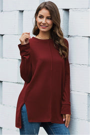 Slouchy Dolman Long Sleeve Tunic - Pavacat