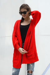 Solid Color Long Casual Cardigan - Pavacat