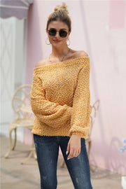 Solid Color Long-sleeve Sweater - Pavacat