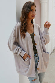 Solid Color Single Breasted Cardigan - Pavacat