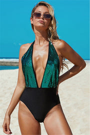 Summer Fling Deep V One Piece Swimsuit - Pavacat