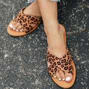 Summer Pu Open Toe Slippers Simple Slide Shoes - Pavacat