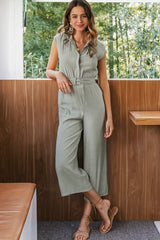 The Look Of Love Sash Belt Jumpsuit - Pavacat