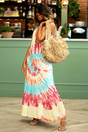 Tie-dyed Printed Casual Vest Dress - Pavacat