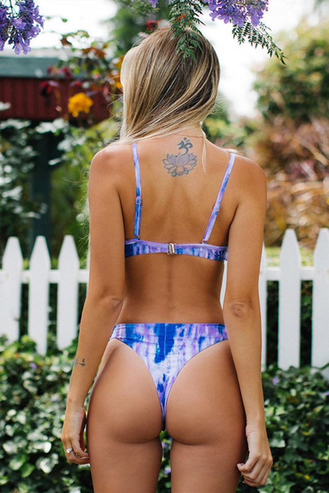 Time Goes By Tie-dyed Bikini