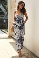 V Neck Sleeveless Belt Jumpsuit - Pavacat