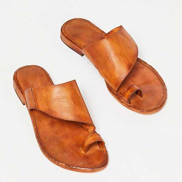 Vintage Summer Flat Flip-flops Slip-on Sandals Slippers - Pavacat