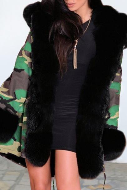 Winter Camouflage Hooded Thicken Coat - Pavacat