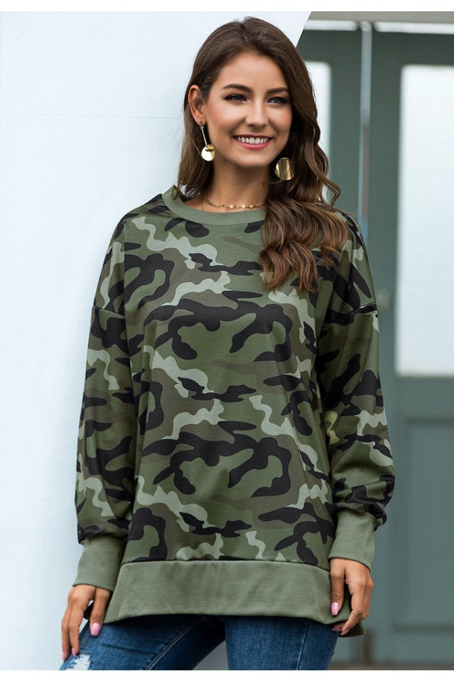 You Can't Look Back Camo Tunic - Pavacat