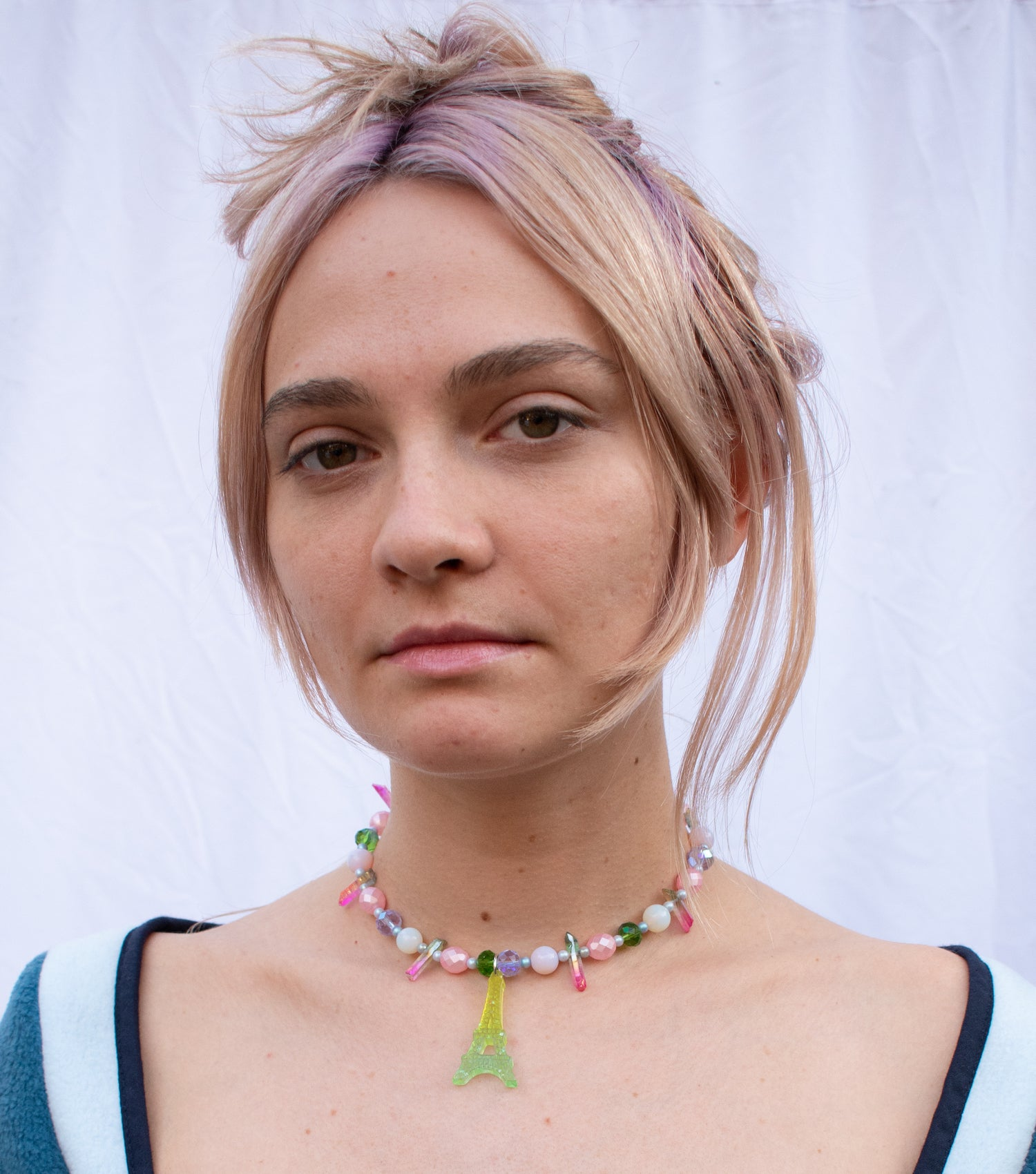 emma pryde, choker, resin, glitter, handmade, los angeles boutique, kathleen, kathleen los angeles, gummie bear, necklace, pearls, freshwater pearls, baroque pearls, kathleen, kathleen los angeles, shop kathleen, kathleen la, crystal necklace, paris necklace, perfume necklace, eiffel tower necklace, french necklace