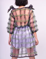 Load image into Gallery viewer, Meg Beck, Dress, Tulle, Grid Dress, Kathleen, Los Angeles, Boutique