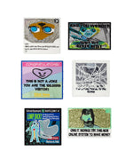 Load image into Gallery viewer, claire barrow, claire barrow extreme sports, encounter hoodie, claire barrow hoodie, aliens hoodierm cbxs401, kathleen, shop kathleen, zines, prints, artwork, claire barrow artwork, claire barrow drawings, claire barrow prints, claire barrow posters, claire barrow awakenings report
