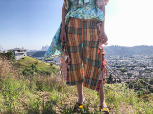 JRAT, Janelle Rabbott, Pants, Chaps, Bow Pants, Zero Waste, Gingham, UpcycleZero Waste, Prairie Dress, Ruffle Dress, Bow Dress, Sustainable, Kathleen, Shop Kathleen, Boutique, Ugly House on the Prairie, Los Angeles, One of a Kind