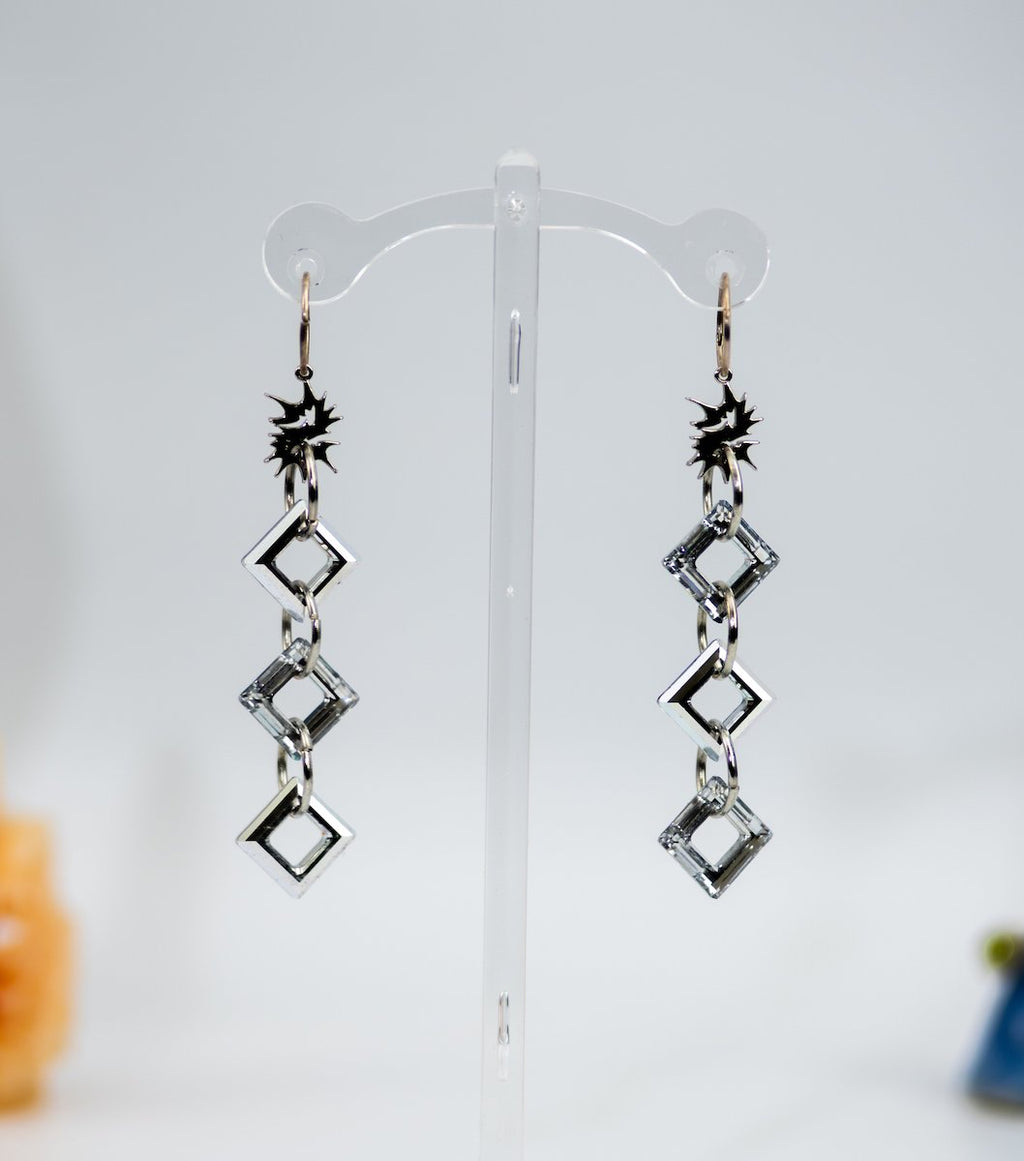 ebonny munro, jewelry, swarovski crystal earrings