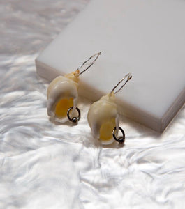 Shell Earrings, Soft Blonde, Seashell, Piercing, Earrings, Shop Kathleen, Kathleen, Boutique, Los Angeles