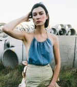 Load image into Gallery viewer, Denim Halter
