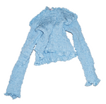 Load image into Gallery viewer, yulia kjellsson, baby blue elastic top, elastic, top, baby blue, kathleen, shop kathleen
