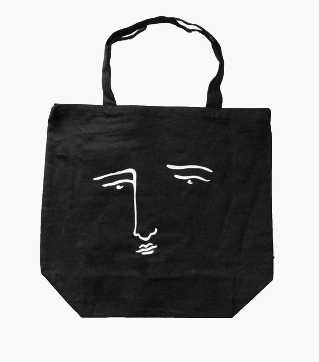 editorial magazine canvas bag, black bag, black canvas bag